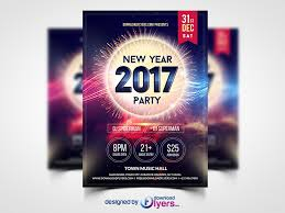 new year 2017 party flyer template free psd download download psd