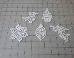 lace ornament etsy