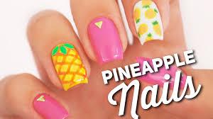 pineapple nail art design fruit manicure youtube