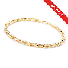 gold bracelet rope images Stefano oro men 39 s 14k gold 8 5 quot diamond cut rope bracelet 5 41