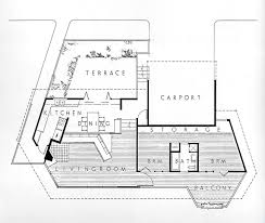 floor plan of john lautner u0027s own home located in los angeles and