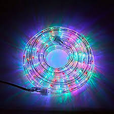 24 ft plugin rope lights 287 multicolor leds