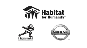 nissan black logo nissan and heisman trust partner with habitat for humanity to