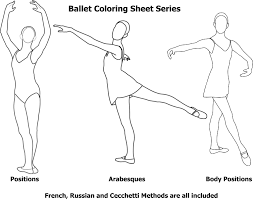dance coloring pages popular ballet positions coloring pages at