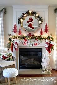 Images Of Mantels Decorated For Christmas 25 Unique Christmas Fireplace Decorations Ideas On Pinterest