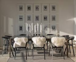 photo frame wall decor ideas dining room contemporary with white
