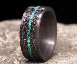 meteorite mens wedding band meteorite shavings wedding ring