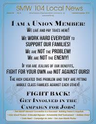 sheet metal workers u0027 local 104 october november 2014 newsletter by