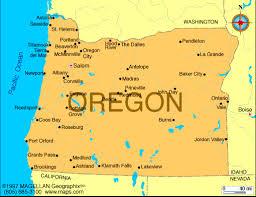 map of oregon us oregon satellite image