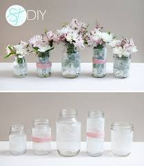 jar center pieces lace covered jar wedding centerpieces budget brides guide