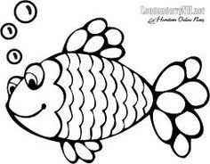 fish craft template rainbow fish black white template