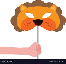 lion mask lion mask royalty free vector image vectorstock