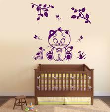 online get cheap floral decor for nursery aliexpress com 2017 new children kids room wall vinyl decal nursery cat kitty kids children butterfly floral