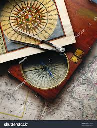Compass Map Antique Compass Map 19th Century This Stock Photo 21752242