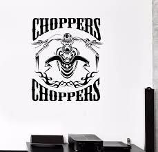 online buy wholesale metal sticker chopper from china metal new popular wall vinyl sticker decal motorcycle fire bike chopper biker garage free shipping china