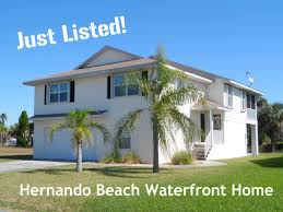two story waterfront home for sale in hernando beach florida