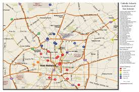San Antonio Texas Zip Code Map by Map Of Schools Archdiocese Of San Antonio