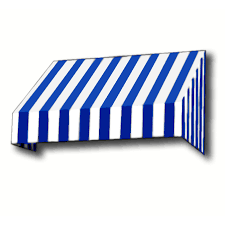 Blue Flag White X Shop Awntech 196 5 In Wide X 48 In Projection Bright Blue White