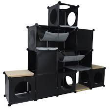 Cat Condos Cheap Cats In Cubes Modular Cat Condo Furniture Diy Tree House Tower
