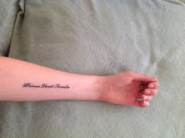 latin typography tattoo family comes first in latin tattoos pinterest tattoo