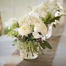 white centerpieces wedding table centerpieces southern living