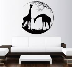 african wall murals promotion shop for promotional african wall circle patterned deer with animals silhuette wall decals jungle animals african style wall sticker vinyl wall mural decor