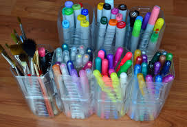 plastic juice bottle into art caddy holds pencils markers