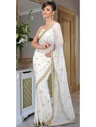 indische brautkleider brautkleid indische weißen sari aus chiffon mit pailletten
