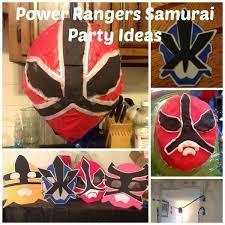 rangers samurai party ideas