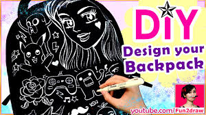 design art video how to design a backpack easy diy art youtube
