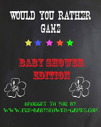 baby shower would you rather game creative baby shower games