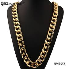 hip hop jewelry necklace images Exaggerated street dance singer thick sparse long chains necklace jpg