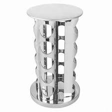 Revolving Spice Rack 20 Jars Jar Spice Rack Rotating Stainless Steel Stand Holder Kitchen