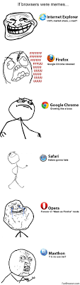 Internet Browser Meme - if web browsers were memes