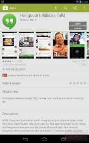 hangouts app android psa the new hangouts app should now work on all android tablets