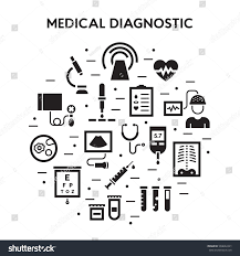 medical diagnostic vector icon set medicine stock vector 504642421