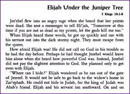 elijah the juniper tree story korner biblewise
