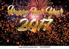lanterns fireworks happy new year sky lanterns fireworks stock photo 545266648