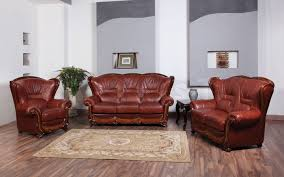 Genuine Leather Living Room Sets 100 Traditional Sofa Set 3 560 00 Furniture Store Shipped