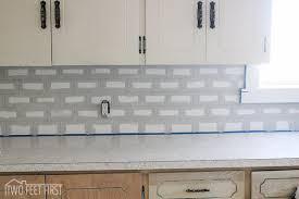 Cheap Backsplashes For Kitchens Cheap Subway Tile Attractive Diy Backsplash Hometalk Inside 1