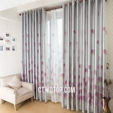 Light Grey Blackout Curtains Gray Curtains Cheap Curtain Striped Living Room Material Blackout