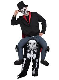 Halloween Mascot Costumes Piggy Skeleton Fancy Dress Mascot Costume Shoulder Ride