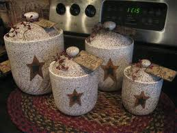 rustic kitchen canister sets best 25 primitive canisters ideas on country