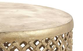 bamileke brass coffee table jayson home