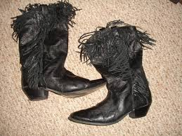 womens fringe boots size 9 womens e clat italy black leather pull on cowboy boots