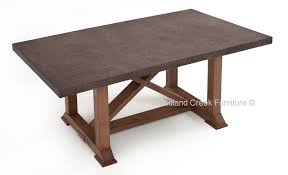 Patio World Walnut Creek Casual Outdoor Table Patio Furniture Stone Top Concrete