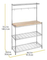 whitmor supreme kitchen bakers rack u0026 chrome review bakers