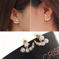 anchor earrings sweet diamond anchor pearl anchor earrings fashion earrings