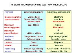 name one advantage of light microscopes over electron microscopes fantastic contrast the way light microscopes and electron