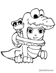 Coloriages coloriage de téo déguisé en crocodile  frhellokidscom